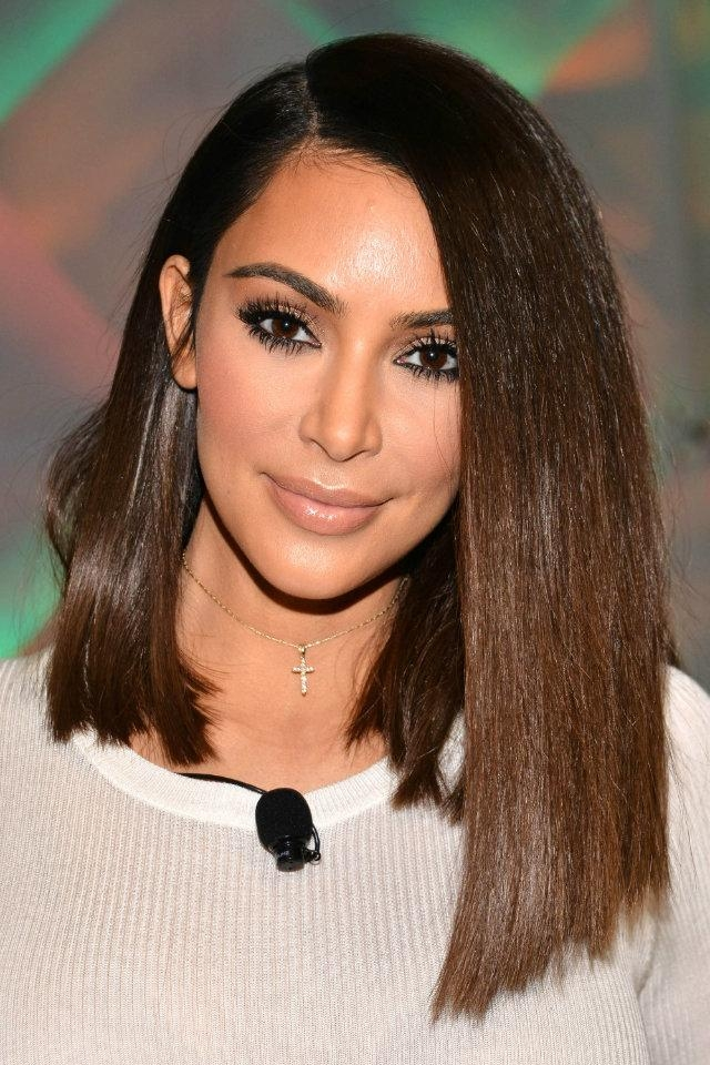 10 Long Bob Hairstyles To Try This Winter Regarding Long Bob Hairstyles Kim Kardashian (View 1 of 15)