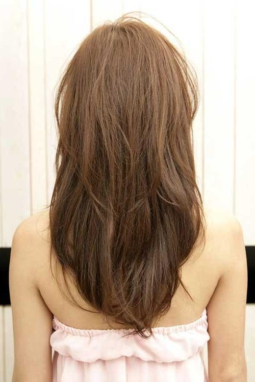 10+ Long Layered Hair Back View | Hairstyles & Haircuts 2016 – 2017 In Long Hairstyles V Shape At Back (View 6 of 15)