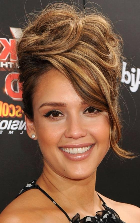10 Messy Updos For Long Hair Intended For Updo For Long Hair With Bangs (View 1 of 15)