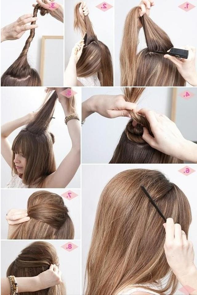 Причёски на длинные волосы с начесом в домашних условиях своими руками 4