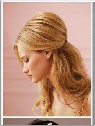 110 Best Bat Mitzvah 2014 Images On Pinterest | Hairstyles, Make Regarding Long Hairstyles Half Pulled Back (View 1 of 15)