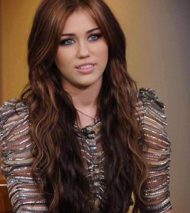 117 Best Miley Cyrus Images On Pinterest | Beautiful People, Girl Inside Miley Cyrus Long Hairstyles (View 3 of 15)