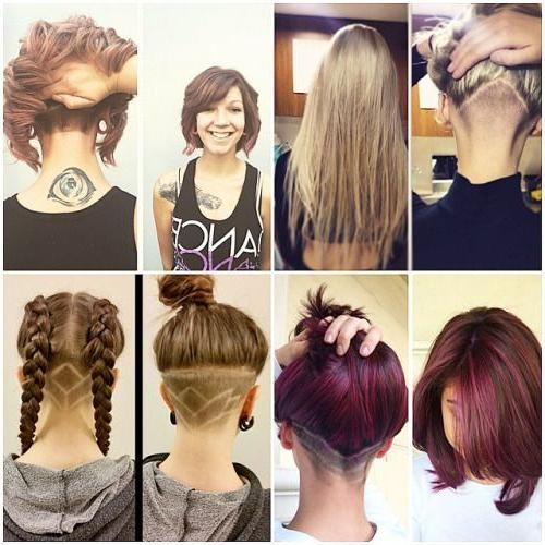 12 Best Undercut Images On Pinterest | Hairstyles, Hair And Nape With Long Hairstyles Shaved Underneath (View 2 of 15)