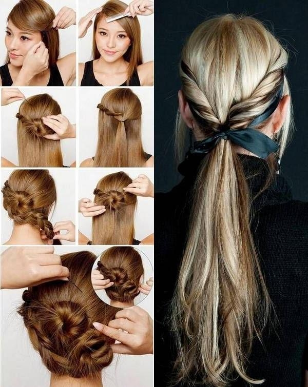 123 Best Easy Half Up Half Down Hairstyles Images On Pinterest With Long Hairstyles At Home (View 1 of 15)