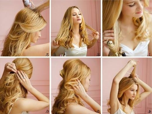 134 Best Hair Images On Pinterest | Hairstyles, Hairstyle And Make Up Inside Long Hairstyles Pinned Back (View 4 of 15)