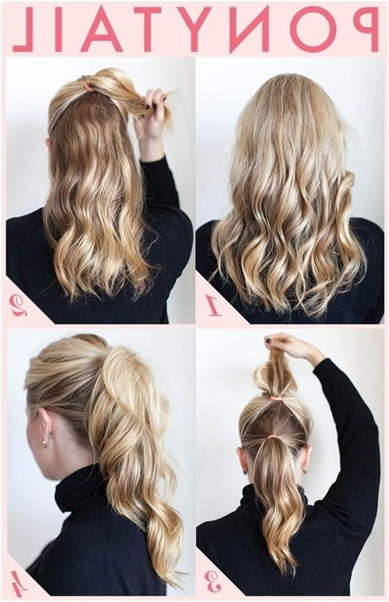15 Cute And Easy Ponytail Hairstyles Tutorials – Popular Haircuts For Long Hairstyles Easy And Quick (View 2 of 15)