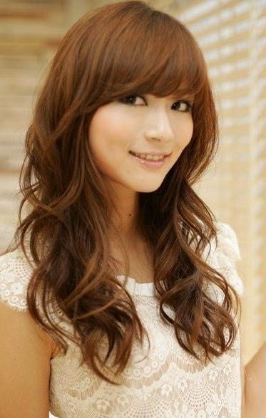 16 Fascinating Asian Hairstyles – Pretty Designs Regarding Long Wavy Hairstyles Korean (View 2 of 15)