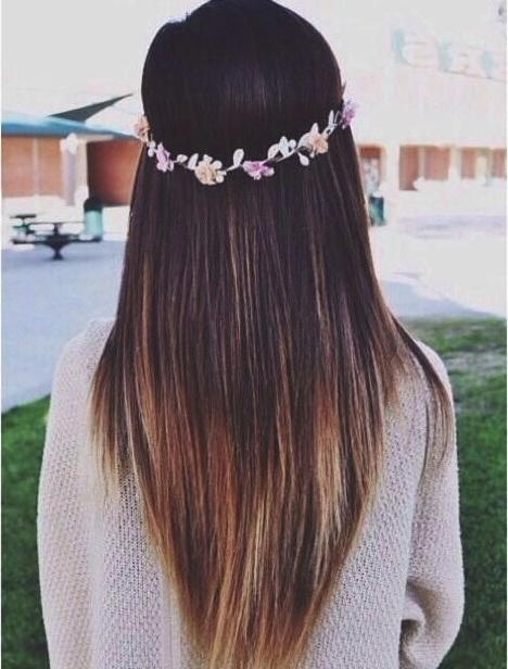 16 Great Layered Hairstyles For Straight Hair 2017 – Pretty Designs Throughout Long Hairstyles V Shape (View 2 of 15)