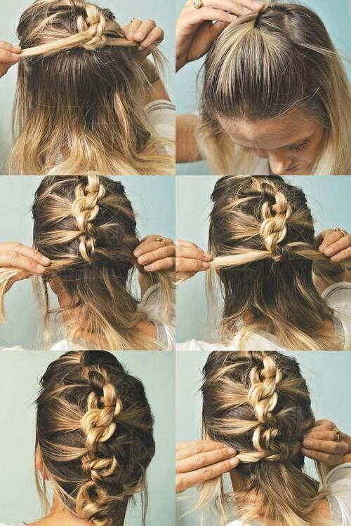 18 Quick And Simple Updo Hairstyles For Medium Hair – Popular Haircuts For Medium Long Hair Updos (View 6 of 15)