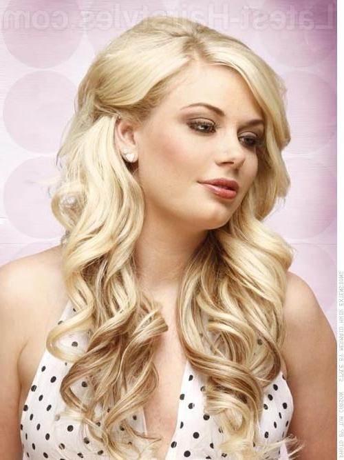 20 Best Curled Hair Images On Pinterest | Hairstyle, Make Up And For Long Hairstyles Pinned Back (View 6 of 15)