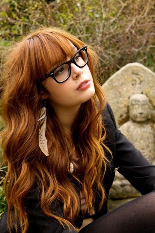 15 photo of long hairstyles with glasses