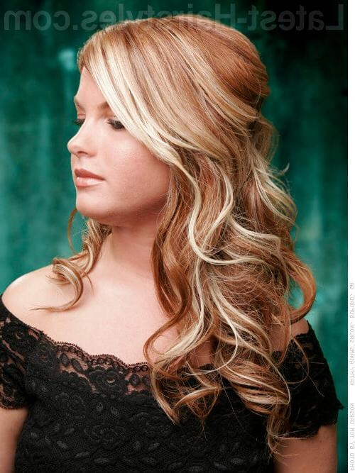 20 Gorgeous Formal Half Updos You'll Fall In Love With Regarding Long Hairstyles Half Up Curls (View 4 of 15)
