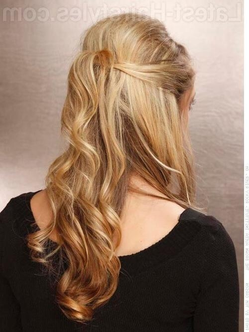 20 Gorgeous Formal Half Updos You'll Fall In Love With Throughout Long Hairstyles Half Up Curls (View 5 of 15)