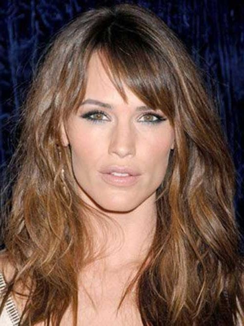 20 Long Hair Side Swept Bangs | Hair Style | Pinterest | Side Within Long Jaw Hairstyles (View 4 of 15)