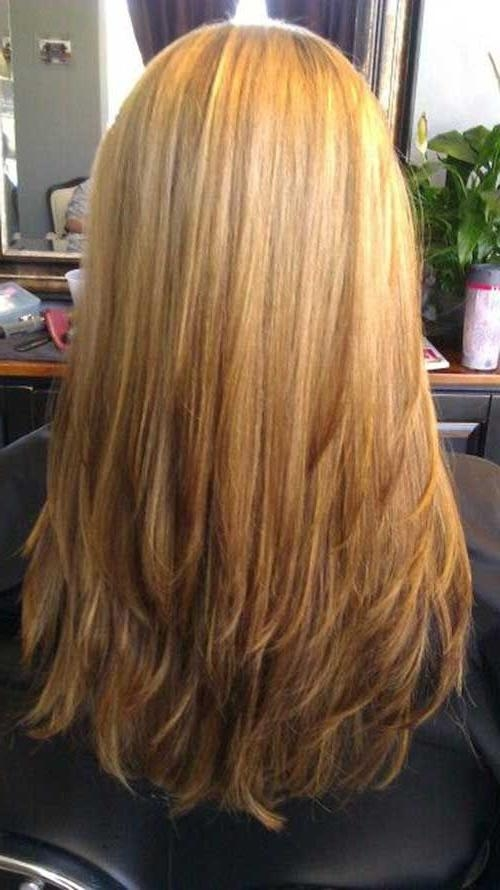 20 Long Layered Straight Hairstyles | Hair | Pinterest | Straight Regarding Long Hairstyles Layered Straight (View 2 of 15)
