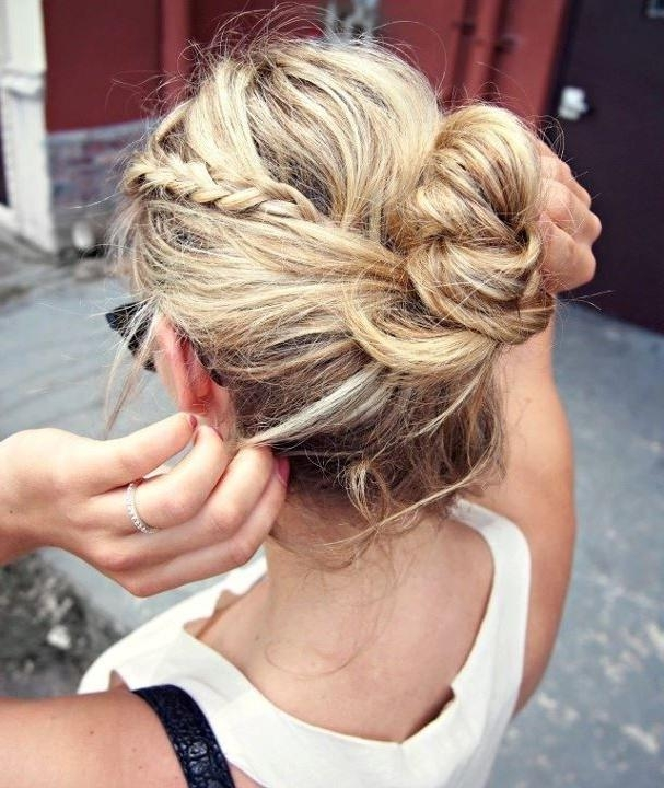 20 Pretty Braided Updo Hairstyles – Popular Haircuts Intended For Casual Braids For Long Hair (View 2 of 15)