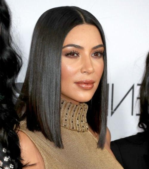 201 Best Blunt Cut Images On Pinterest | Hairstyles, Hair And Hair Inside Long Bob Hairstyles Kim Kardashian (View 3 of 15)