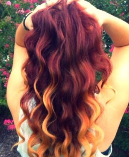 2014 Hair Trend: Red Ombre Hairstyles – Pretty Designs Pertaining To Long Hairstyles Red Ombre (View 2 of 15)