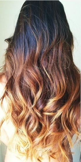 2017 Long Wavy Hairstyle For Ombre Hair Inside Long Hairstyles Ombre (View 4 of 15)
