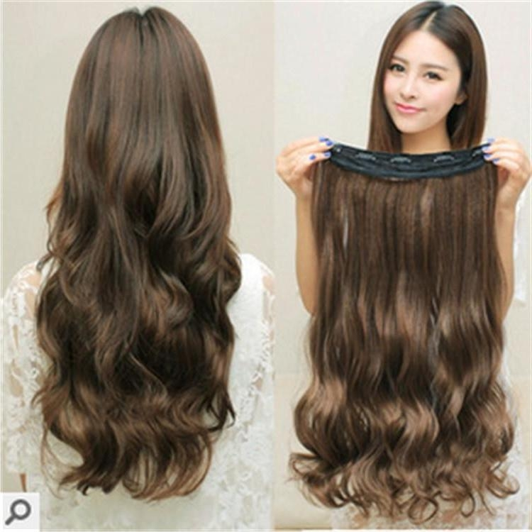 2017 Seamless 5 Clips Thick Hair Pieces Hair Extensions Wholesale Pertaining To Hair Clips For Thick Long Hair (View 12 of 15)