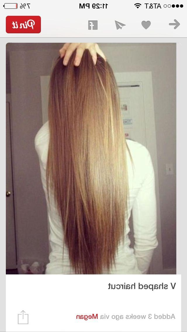 21 Best Cienowanie Images On Pinterest | Hairstyles, Hair And V Inside Long Hairstyles V In Back (View 11 of 15)
