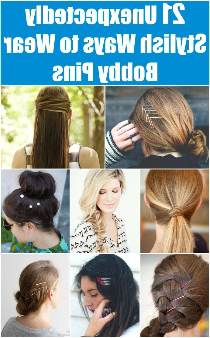 21 Unexpectedly Stylish Ways To Wear Bobby Pins – Diy & Crafts Intended For Long Hairstyles Using Bobby Pins (View 6 of 15)