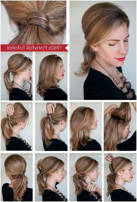23 Best Ponytail Hairstyles Images On Pinterest | Hairstyles, Make Throughout Long Hairstyles Do It Yourself (Gallery 1 of 15)
