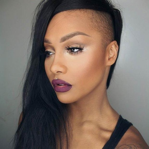23 Most Badass Shaved Hairstyles For Women | Stayglam Throughout Long Hairstyles With Shaved Sides (View 4 of 15)