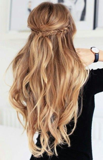 25+ Best Half Up Wedding Hair Ideas On Pinterest | Long Bridal Intended For Long Hairstyles Up And Down (View 2 of 15)