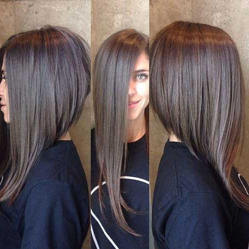 25 Best Long Angled Bob Hairstyles We Love – Hairstylecamp Throughout Hairstyles Long Front Short Back (View 2 of 15)