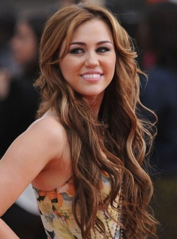 25+ Best Miley Cyrus Brown Hair Ideas On Pinterest | Miley Cyrus In Miley Cyrus Long Hairstyles (View 4 of 15)
