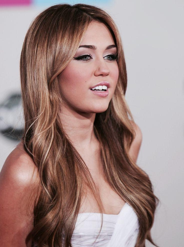 25+ Best Miley Cyrus Brown Hair Ideas On Pinterest | Miley Cyrus Pertaining To Miley Cyrus Long Hairstyles (View 6 of 15)