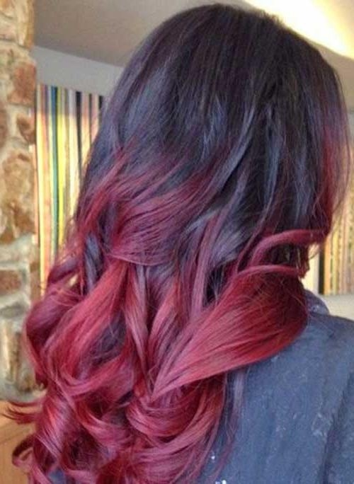 25 Best Ombre Hair Color | Hairstyles & Haircuts 2016 – 2017 Intended For Long Hairstyles Red Ombre (View 3 of 15)