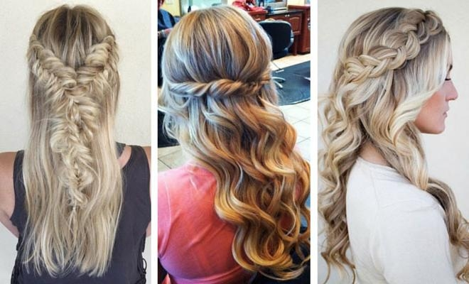 26 Stunning Half Up, Half Down Hairstyles | Stayglam With Long Hairstyles Up And Down (View 3 of 15)