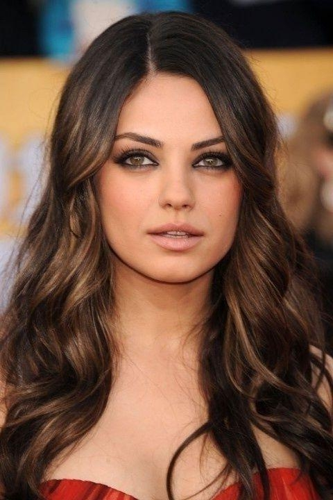 260 Best Hair Images On Pinterest | Hairstyles, Hair And Make Up In Long Hairstyles Dark Brown (View 8 of 15)