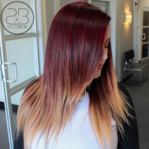 28 Hot Red Hair Color Ideas For 2016 – Pretty Designs Pertaining To Long Hairstyles Red Ombre (View 4 of 15)