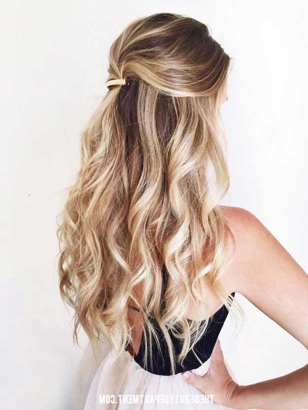 31 Amazing Half Up Half Down Hairstyles For Long Hair – The Goddess Intended For Long Hairstyles Half Up Half Down (View 4 of 15)