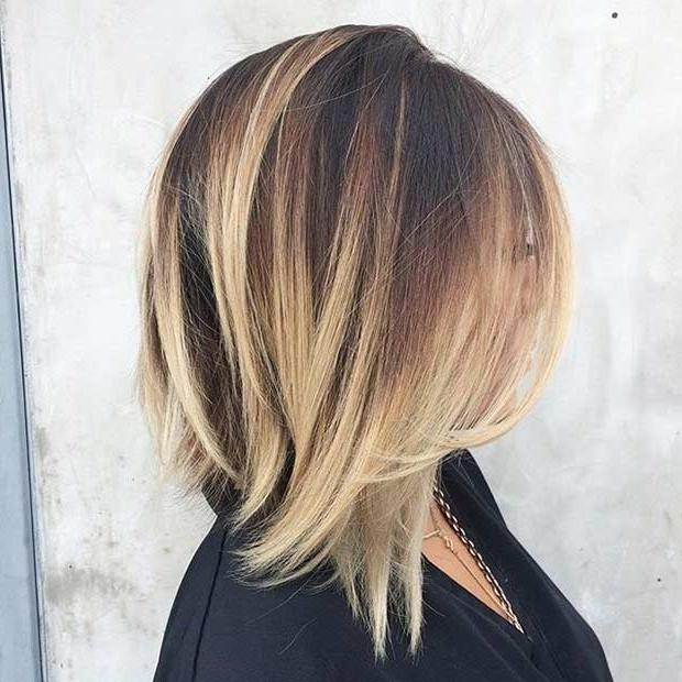 31 Best Shoulder Length Bob Hairstyles | Stayglam Within Medium Long Layered Bob Hairstyles (View 6 of 15)