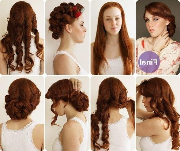 32 Vintage Hairstyle Tutorials You Should Not Miss | Styles Weekly Regarding Vintage Updos For Long Hair (View 7 of 15)