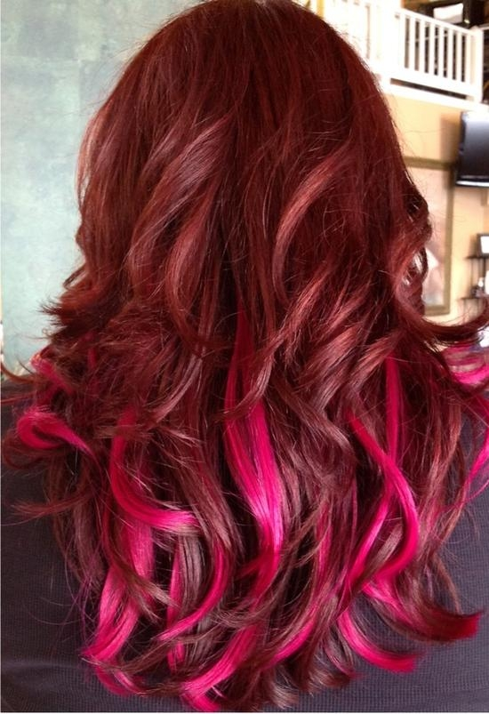 34 Ombre Hairstyles Ideas For Women – Inspirationseek Pertaining To Long Hairstyles Red Ombre (View 5 of 15)