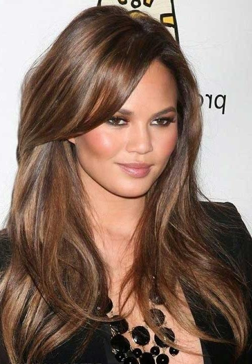 35 Long Layered Cuts | Hairstyles & Haircuts 2016 – 2017 Inside Long Hairstyles Brown With Highlights (View 4 of 15)