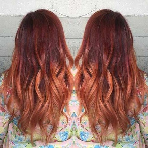 35+ Long Ombre Hairstyles | Long Hairstyles 2016 – 2017 Pertaining To Long Hairstyles Red Ombre (View 6 of 15)