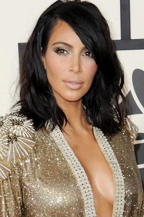 36 Best Hair Images On Pinterest | Hair Trends, Hairstyles And Pertaining To Long Bob Hairstyles Kim Kardashian (View 5 of 15)