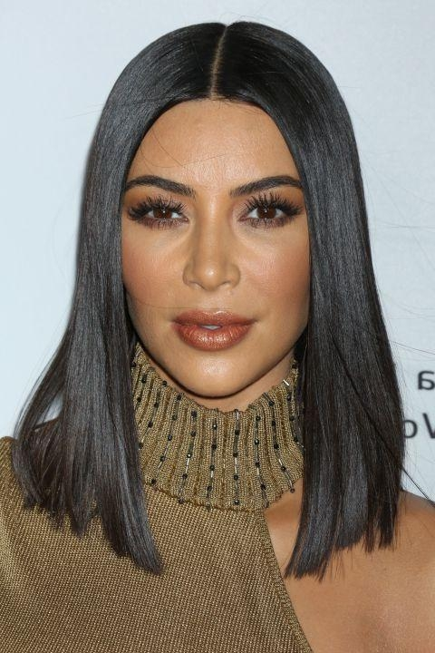 36 Bob Hairstyles For 2017 – Bob Haircuts To Copy This Year Within Long Bob Hairstyles Kim Kardashian (View 10 of 15)