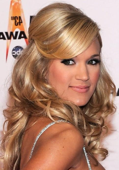36 Carrie Underwood Hairstyles  Carrie Underwood Hair Pictures Throughout Long Hairstyles Half (View 5 of 15)