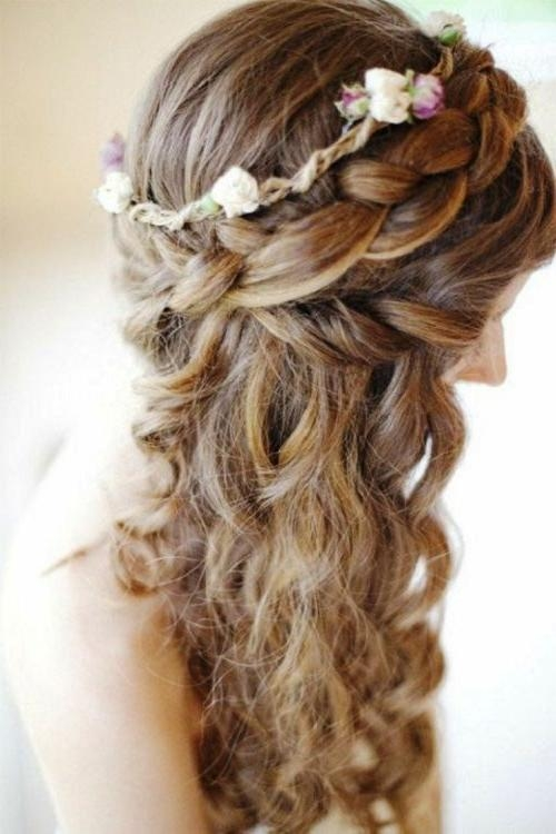 Featured Photo of Long Hairstyles Half Up Curls