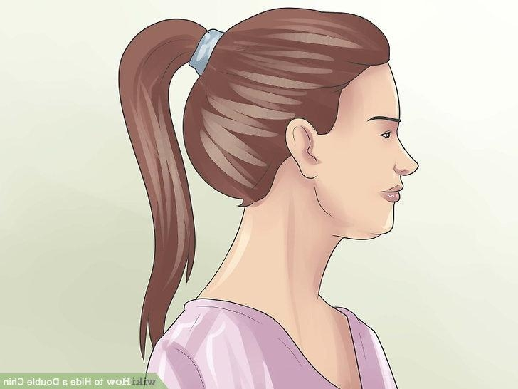 4 Ways To Hide A Double Chin – Wikihow Intended For Long Hairstyles To Hide Double Chin (View 8 of 15)