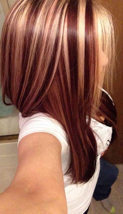 40 Blonde And Dark Brown Hair Color Ideas | Hairstyles & Haircuts Throughout Long Hairstyles Highlights And Lowlights (View 2 of 15)