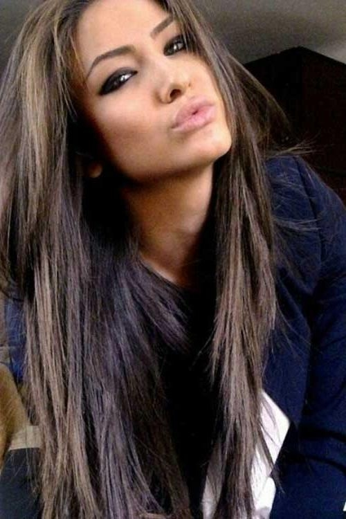 40 Brunette Long Hairstyles Ideas | Long Hairstyles 2016 – 2017 Intended For Long Hairstyles Brown With Highlights (View 6 of 15)