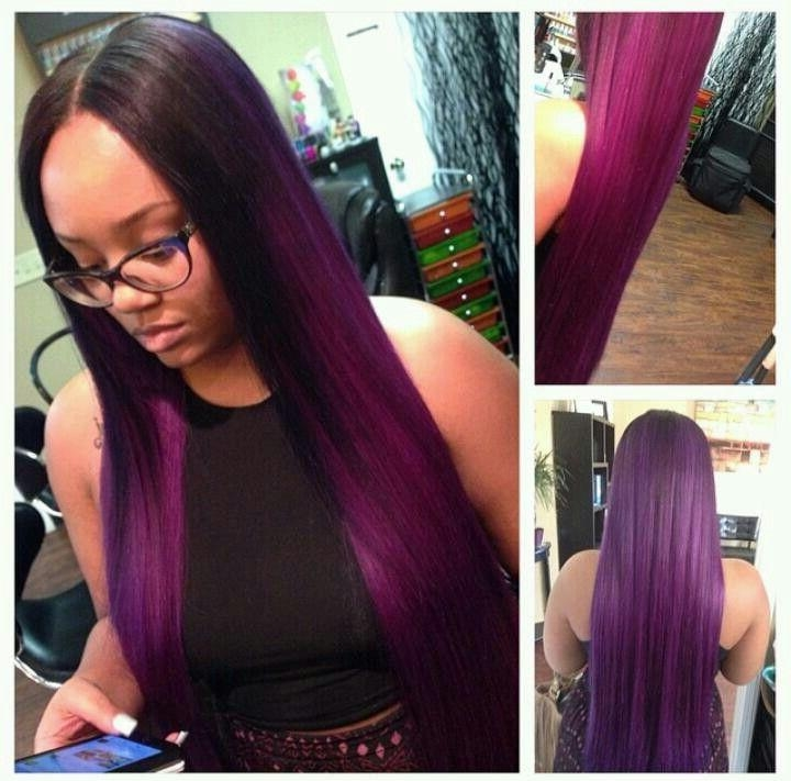 40 Chicest Sew In Hairstyles For Black Women In Long Hairstyles Sew In (View 6 of 15)